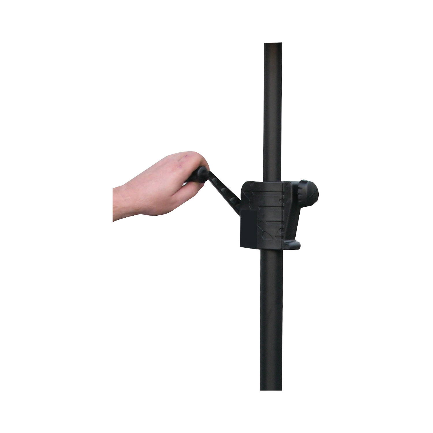 Black Speaker Crank Extension Pole