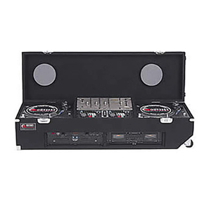 "Universal Standard Position Standard Carpet Coffin Case 19"" DJ Mixer Two 3U"