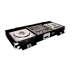 Pioneer DJM-500 and two Technics SL-DZ1200 Carpeted Case