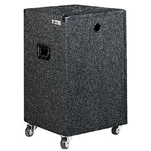 18U Carpet Amp Rack Case with Wheels