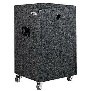 18U Carpet Amp Rack Case with Wheels