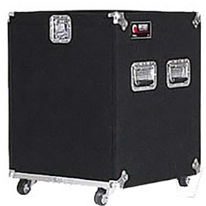 Pro 12U Carpet Amp Rack Case with Wheels