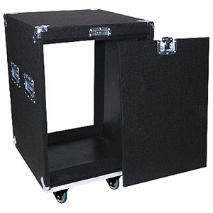 Pro 14U Carpet Amp Rack Case with Wheels