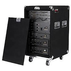 Pro 16U Carpet Amp Rack Case with Wheels