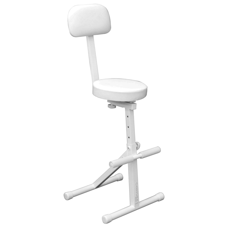White adjustable dj chair