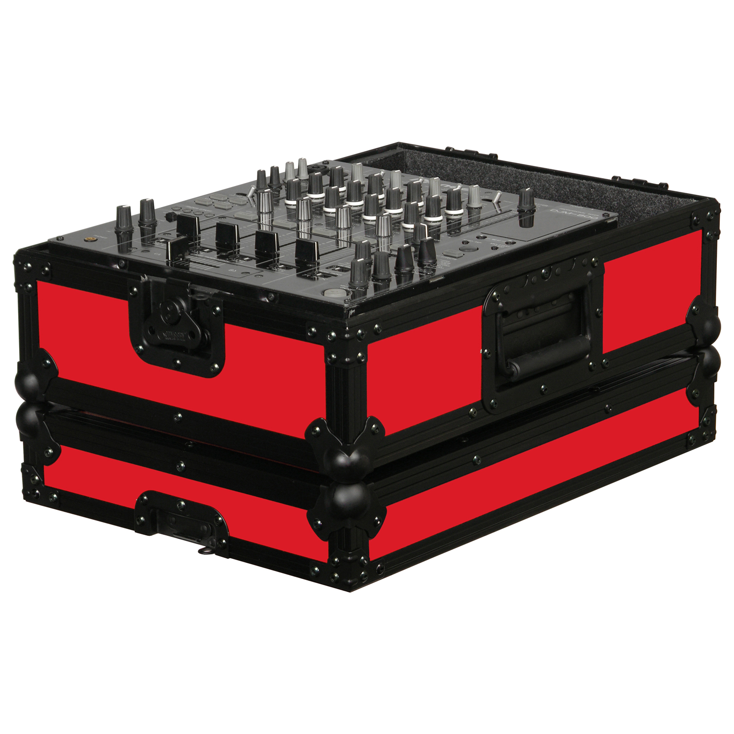 Red universal 12 inch format dj mixer case
