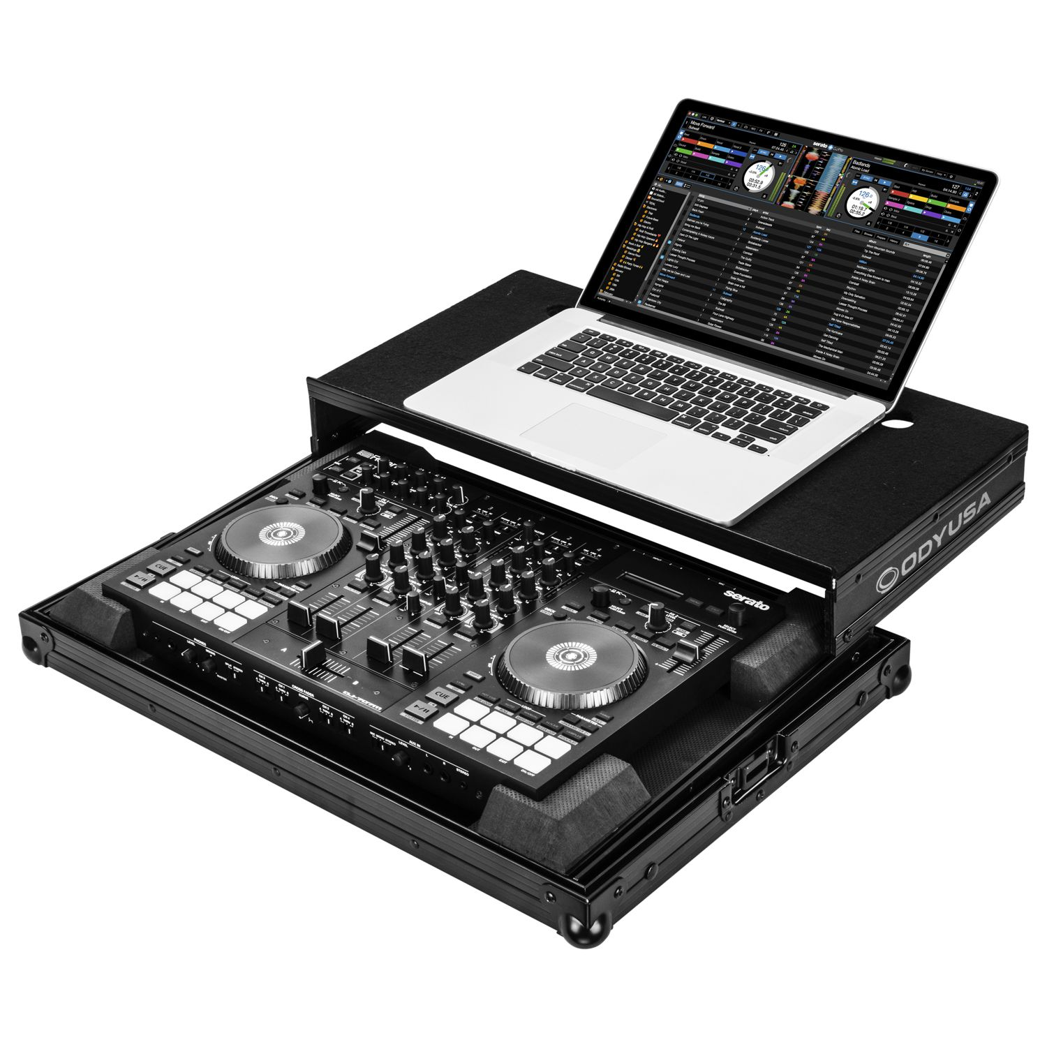 Roland DJ-707M Black Low Profile Case with Laptop Glide Platform