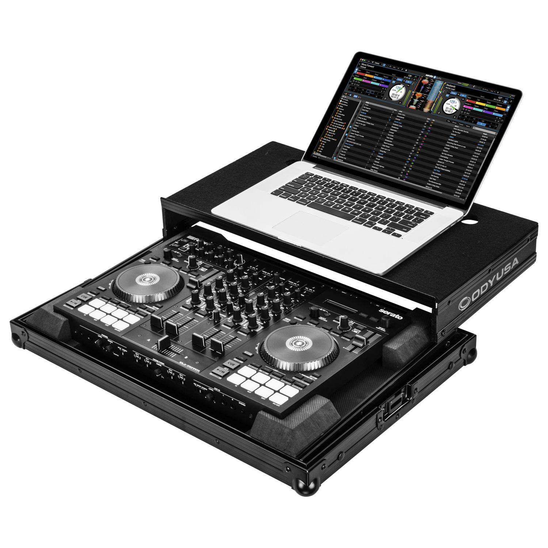 Roland DJ-707M Black Low Profile Case with Laptop Glide Platform