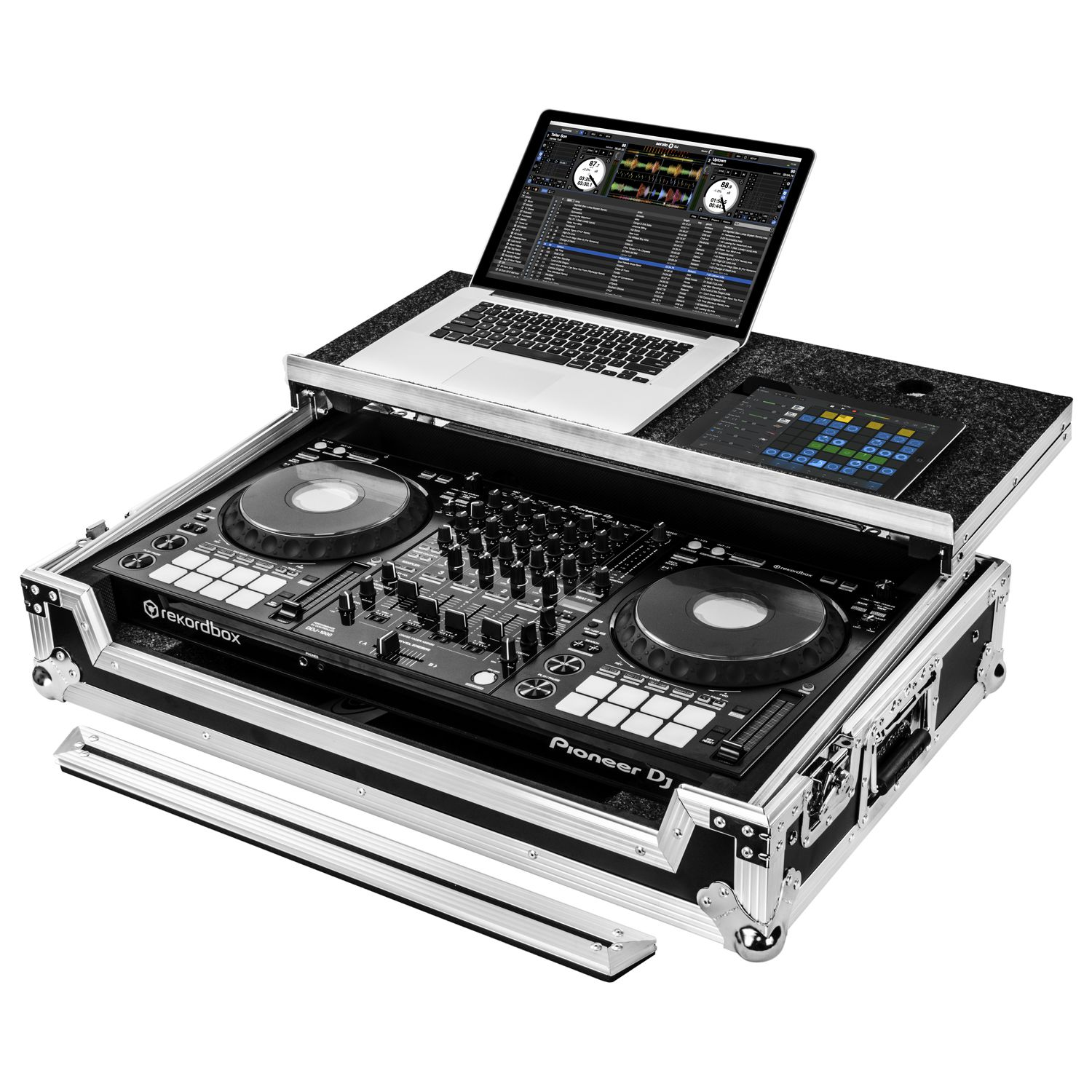 Pioneer DDJ-1000 or DDJ-1000SRT Case with Laptop Glide Platform